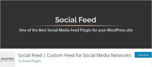 Social Feed plugin for WordPress