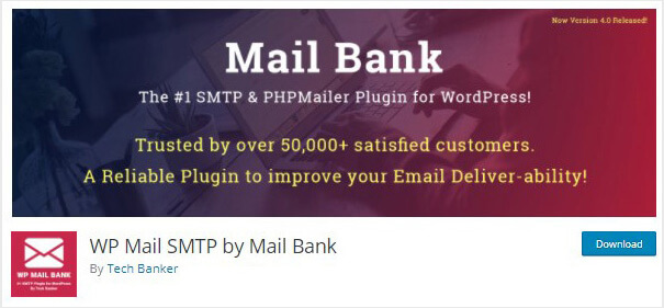 WP Mail SMTP by Mail Bank