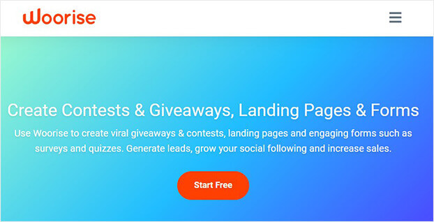 Woorise_wordpress giveaway plugin