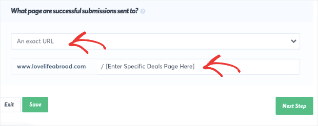 send users to a specific deals page TP-min