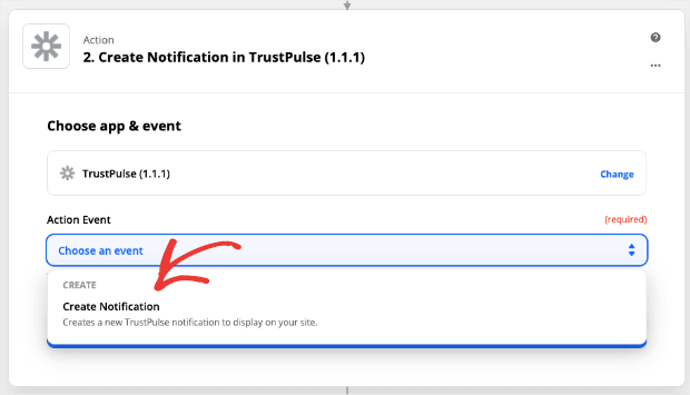 Create notification for Zapier -min