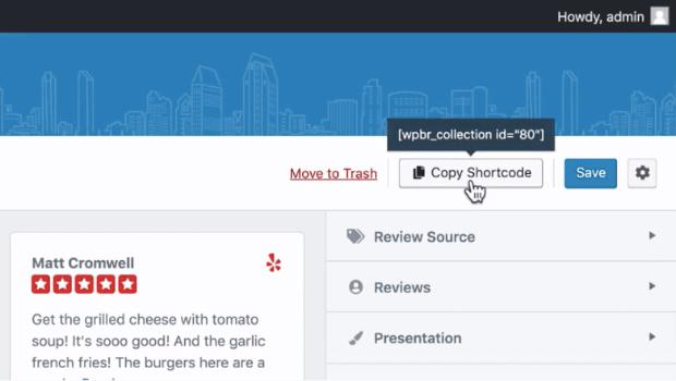 copy shortcode wpbusiness reviews