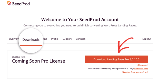download landing page plugin from seedprod