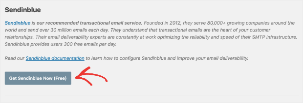 get sendinblue cta from your wordpress dashboard