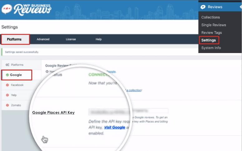 google api wp business reviews