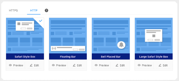 http push notification layouts from push engage