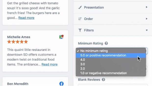 minimum rating wpbusiness reviews