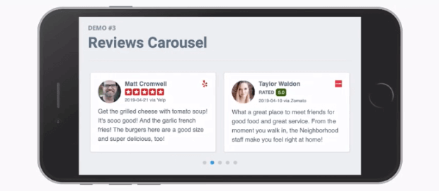 mobile view wpbusiness reviews