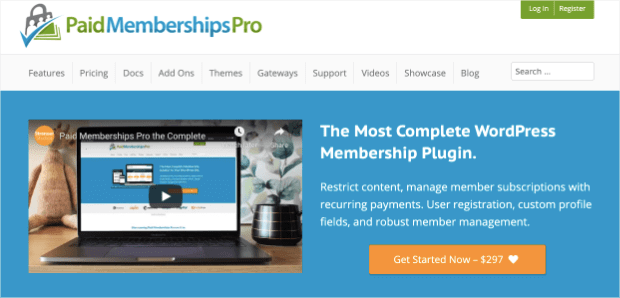 paid membership pro plugin for WordPress