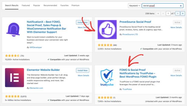 provesource vs trustpulse both are plugins for wordpress