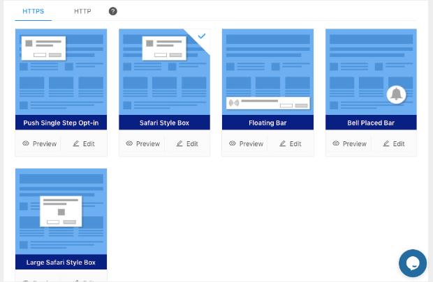 push notification layouts for pushengage