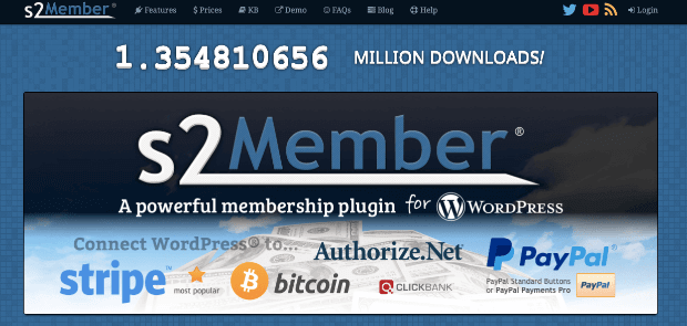 s2member membership plugin for wordpress homepage