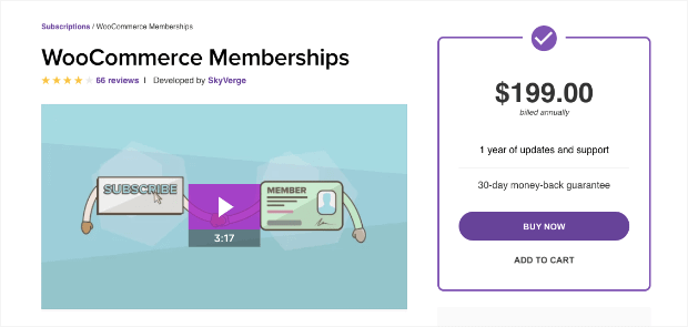 woocommerce memberships plugin for WordPress