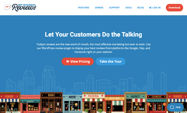 wp business reviews homepage