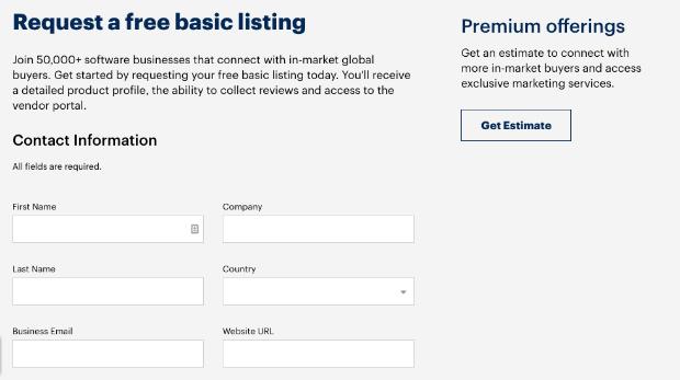 Capterra basic listing