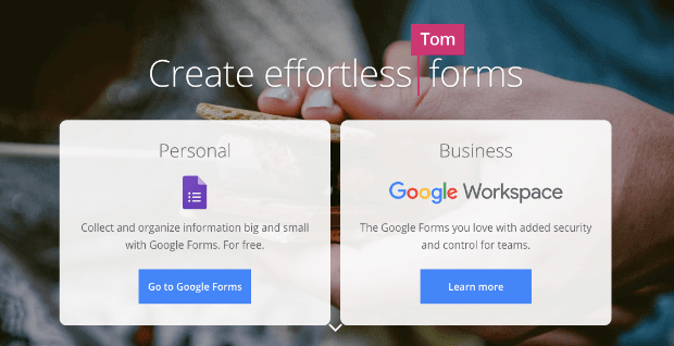 google forms homepage-min