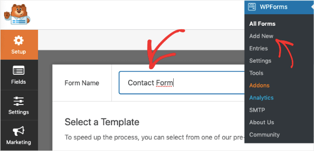 name your contact form