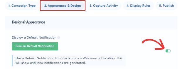 trustpulse default notification