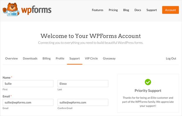 wpforms-support