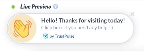 action messages trustpulse demo