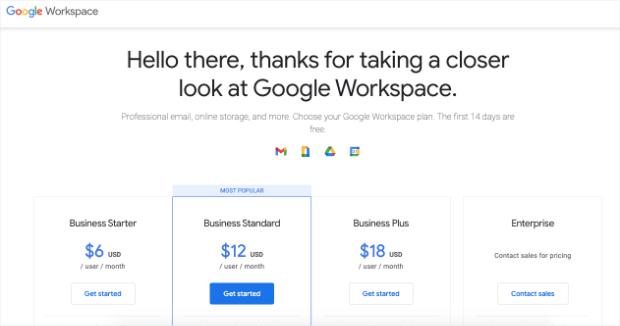 google workspace homepage