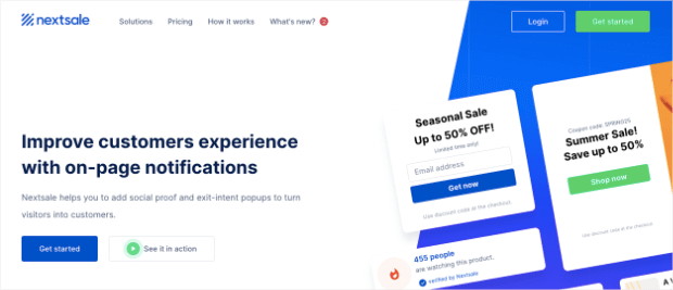 nextsale homepage