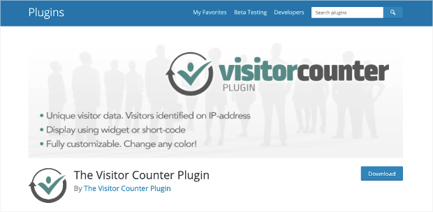the visitor counter plugin