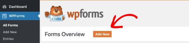 WPForms add new