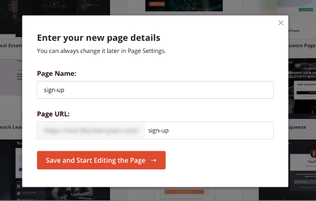 add new page name in seedprod