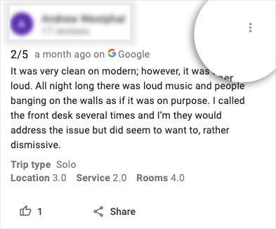 bad review on google my business