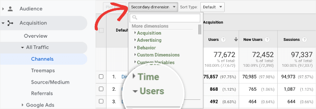 users-in-secondary-dimension