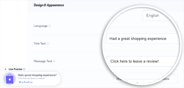 yelp shopping experience example