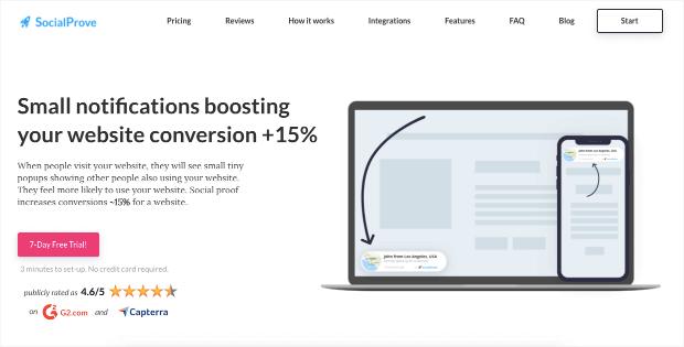 socialprove homepage provely alternative