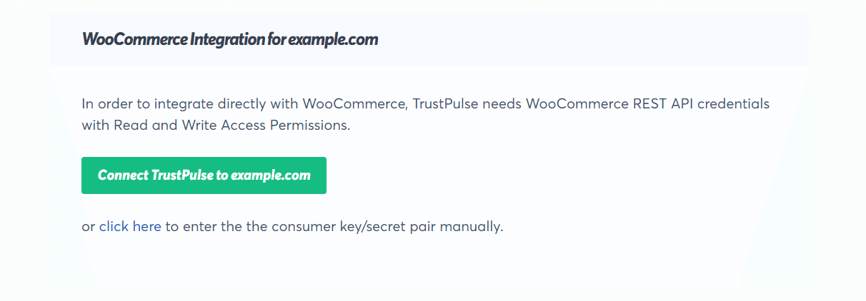 click on the woocommerce connect store button