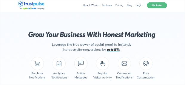 trustpulse homepage